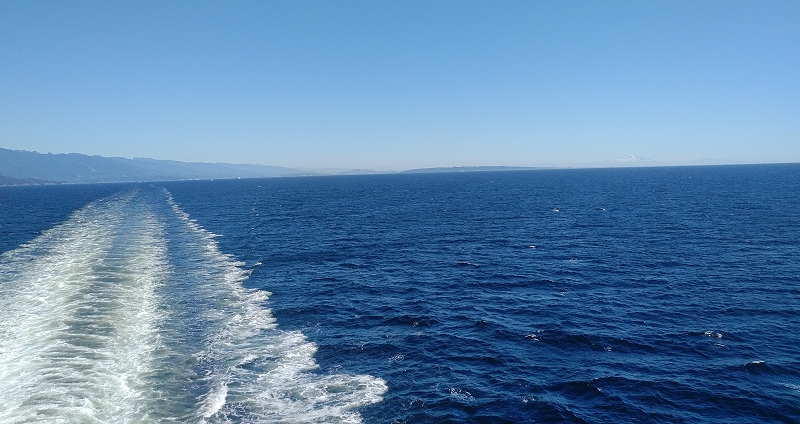 BC Ferries Nanaimo looking back to the mainland